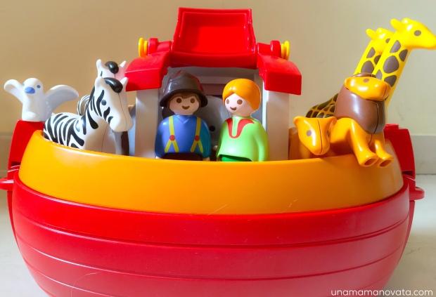 Jugando Con Playmobil 1 2 3 El Arca De No Una Mam